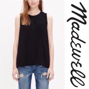Madewell Refined black tank with back zipper